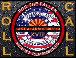 Remembering our fallen firefighters of the Yarnell Fire on June 30, 2013.
